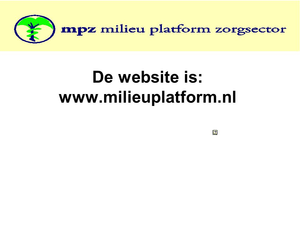 De website is: www.milieuplatform.nl
