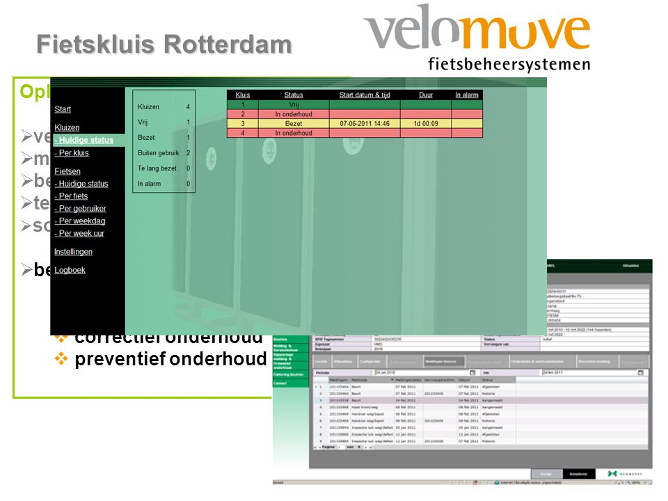 www.velomove.nl Fietskluis Rotterdam Oplossingen:  verlagen van het tarief  mix van abonn.