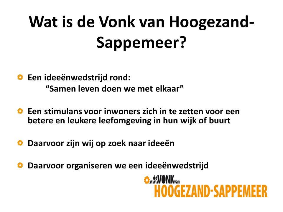 Wat is de Vonk van Hoogezand- Sappemeer.