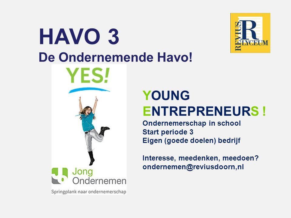 HAVO 3  Mentoren  H31 Minie Visser  H32 Cor van der Leeuw  H33 Lee Verkerk  Laagcoördinator  Karin Kalsbeek  Decaan  Mia Memelink  Conrector