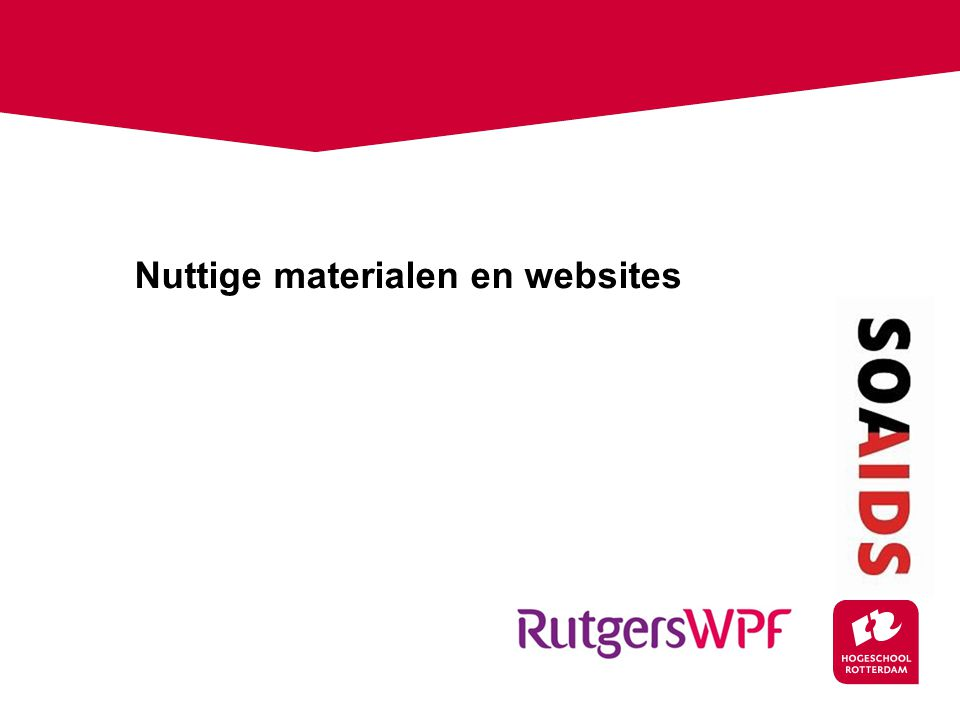 Nuttige materialen en websites