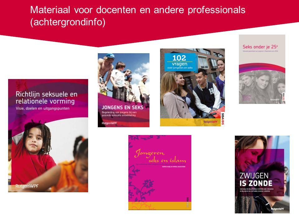 Materiaal voor docenten en andere professionals (achtergrondinfo)