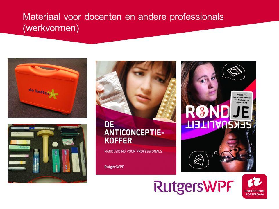 Materiaal voor docenten en andere professionals (werkvormen)