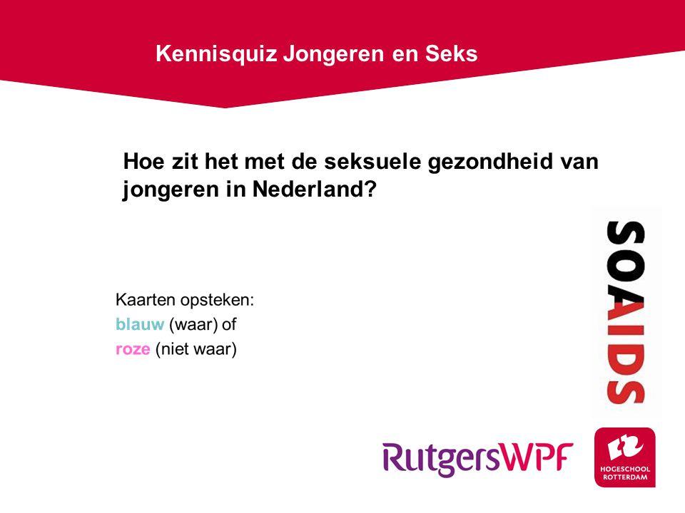 Hoe zit het met de seksuele gezondheid van jongeren in Nederland? Kennisquiz Jongeren en Seks