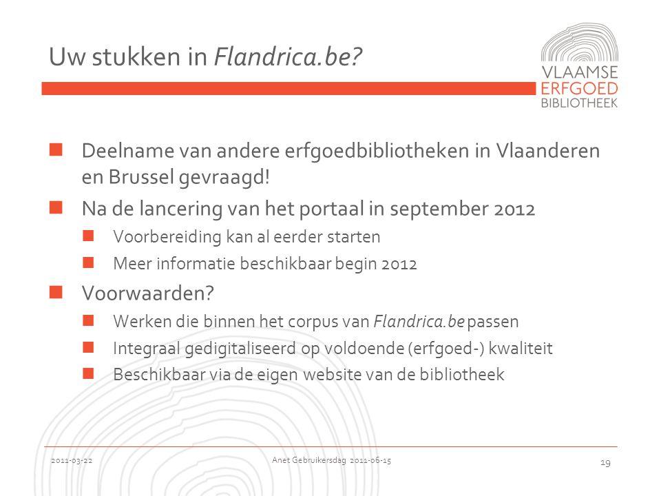 2011-03-22 Anet Gebruikersdag 2011-06-15 19 Uw stukken in Flandrica.be.