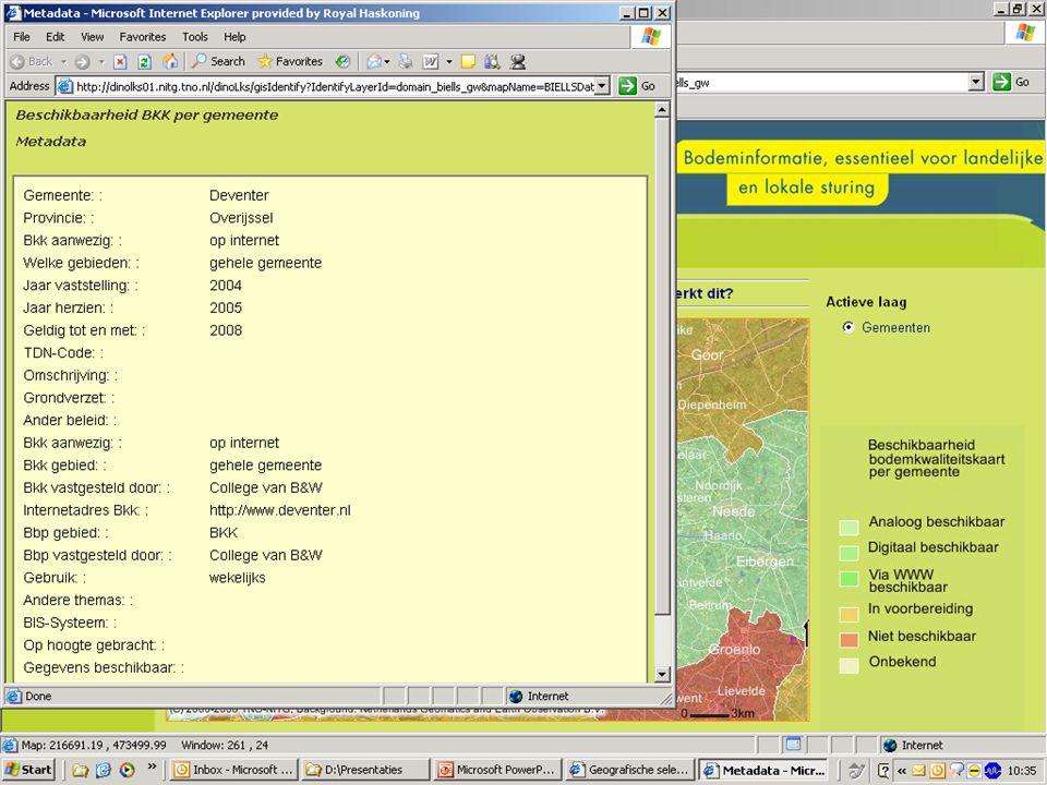 6 Interactieve kaart Anno 2015  De kaart is goed gevuld en up-to-date  Aanlevering van nieuwe kaarten is geïntegreerd in werkprocessen  De kaart voldoet aan nieuwe eisen uit het Besluit bodemkwaliteit