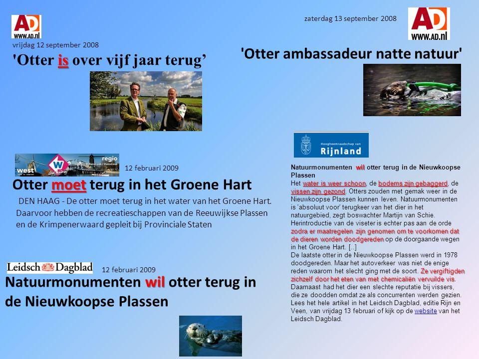 Herintroductie van otters in Nederland?.