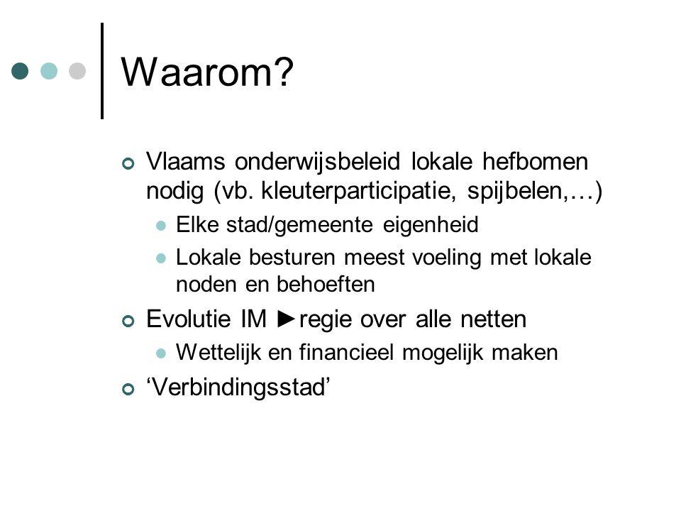 Waarom. Vlaams onderwijsbeleid lokale hefbomen nodig (vb.