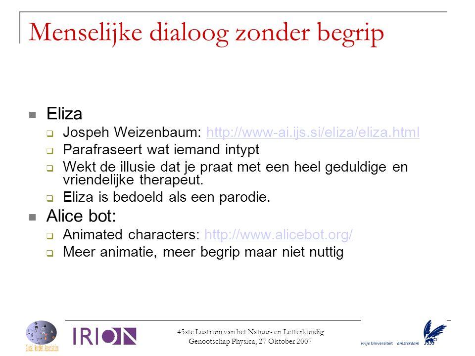 45ste Lustrum van het Natuur- en Letterkundig Genootschap Physica, 27 Oktober 2007  Many-to-many relaties  Dutch: versiersel near_synonym versiering  English: decoration.