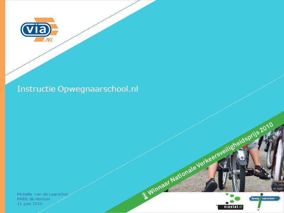Instructie Opwegnaarschool.nl Michelle van de Laarschot RKBS de Horizon 11 juni 2010