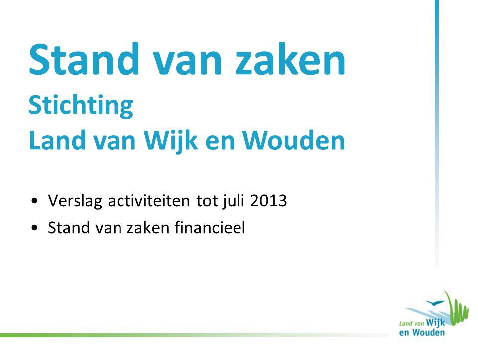 Website www.landvanwijkenwouden.nl •(Zo goed als) dagelijkse update agenda en nieuwsberichten uit de regio •Aantal unieke bezoekers: gemiddeld 420 per dag, in piekmaanden gemiddeld 600 per dag, dalmaanden 300.