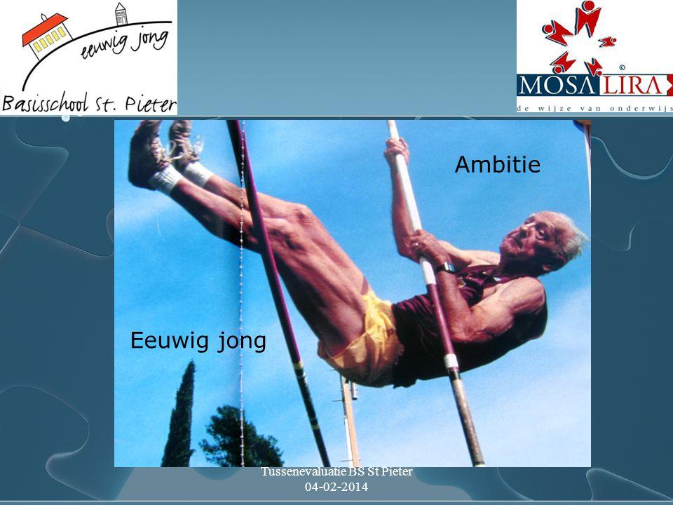 Tussenevaluatie BS St Pieter 04-02-2014 Ambitie Eeuwig jong