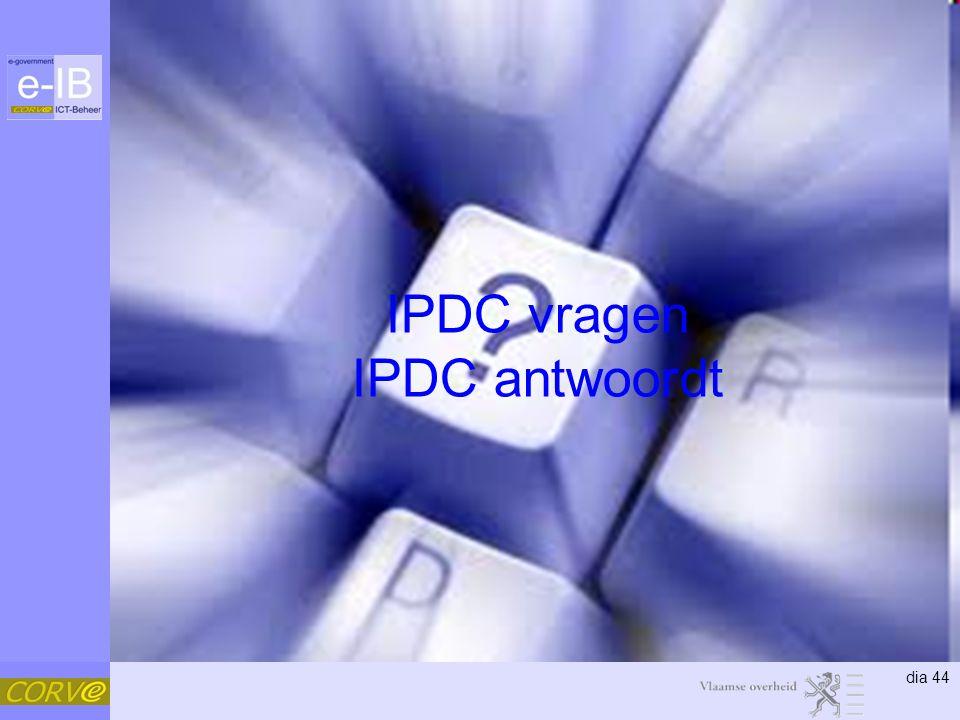 dia 44 IPDC vragen IPDC antwoordt
