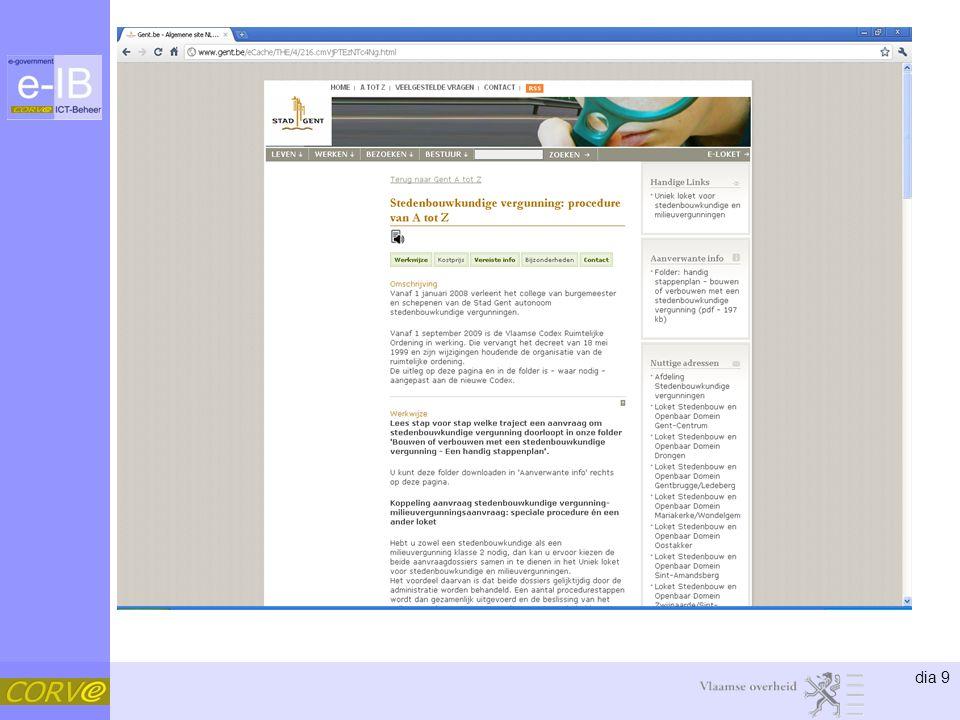 dia 30 Concept •Overneembaar (publicatieprincipe) –Generiek uitgewerkte productfiches –Overneembaar en wijzigbaar door afnemers •Aanvullen productfiches –Contactgegevens –Voorwaarden –… •Aanvullen productcatalogus –Vraag tot opnemen nieuw product in IPDC –Meer specifieke informatie bij lokale besturen •Door aanvullen productfiches •Voorwaarde: deze informatie wordt gelinkt in IPDC •… 1
