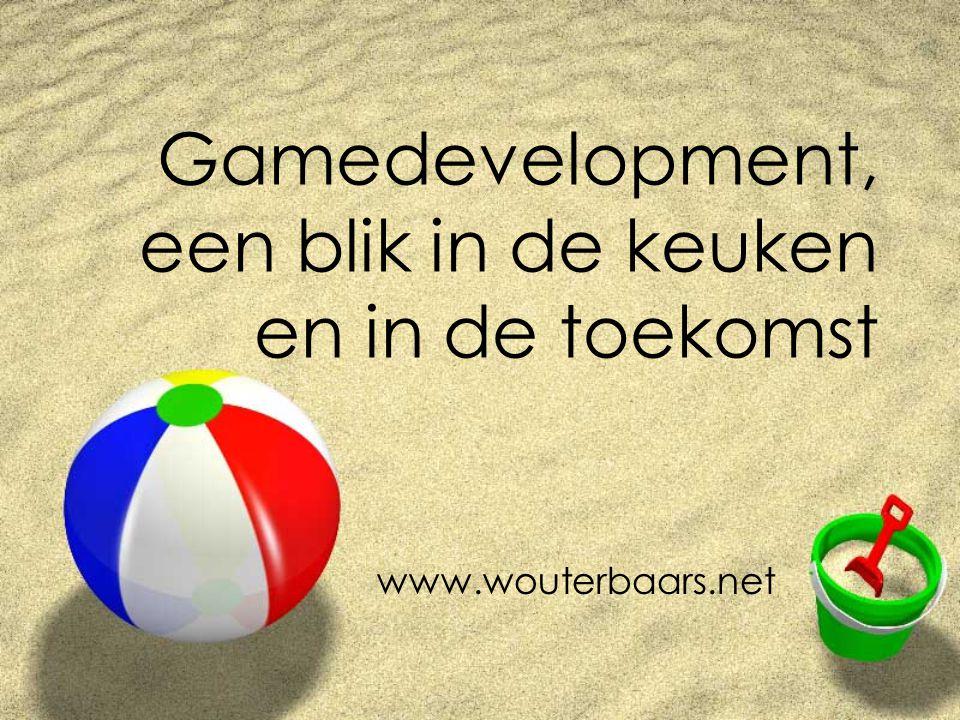 www.wouterbaars.net Statistiek 1 gamedesigner (gameplay) Staat tot 5 - 20 grafische designers Staat tot 50 - 200 programmeurs