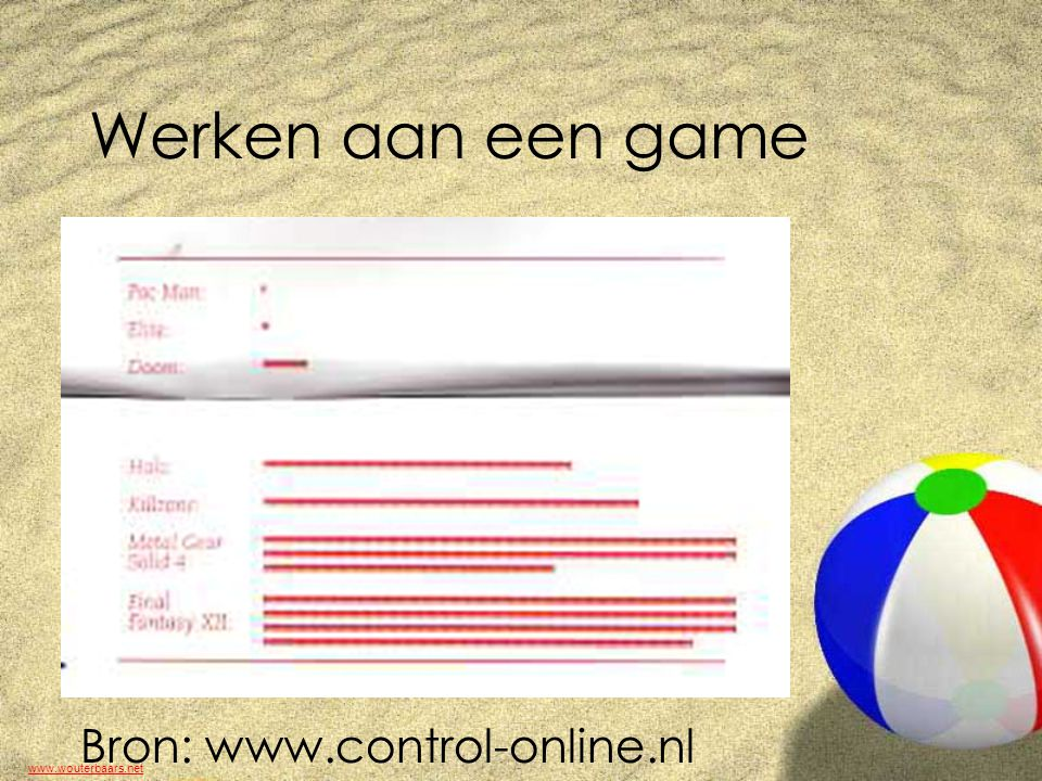 www.wouterbaars.net Educatieve Game!...?