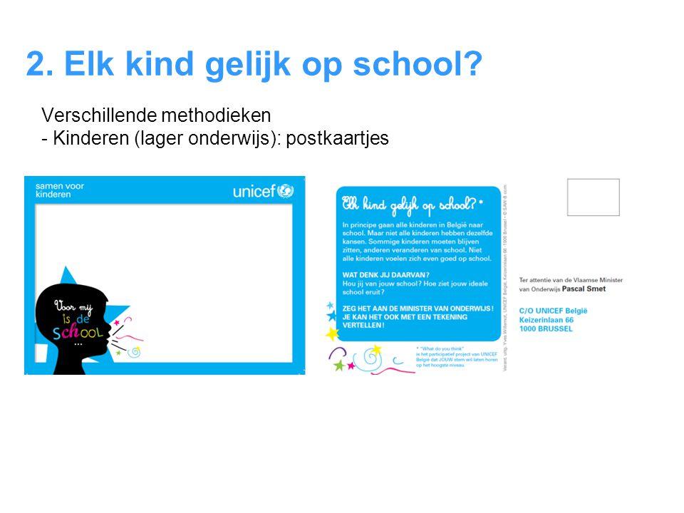 2. Elk kind gelijk op school? Verschillende methodieken - Kinderen (lager onderwijs): postkaartjes