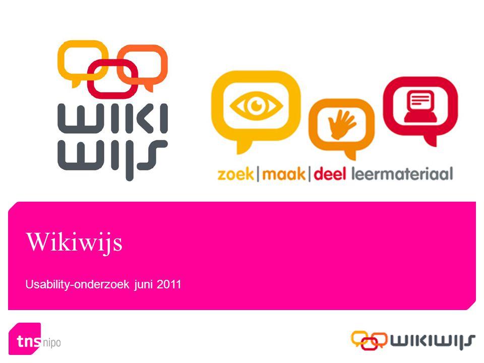 Wikiwijs Usability-onderzoek juni 2011