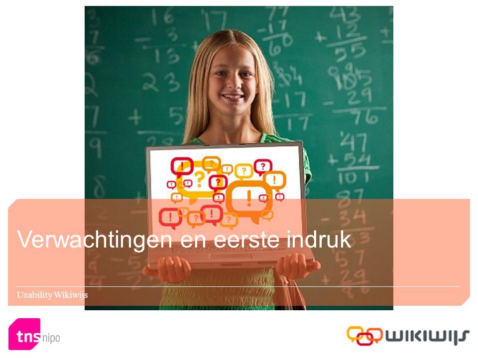Verwachtingen en eerste indruk Usability Wikiwijs