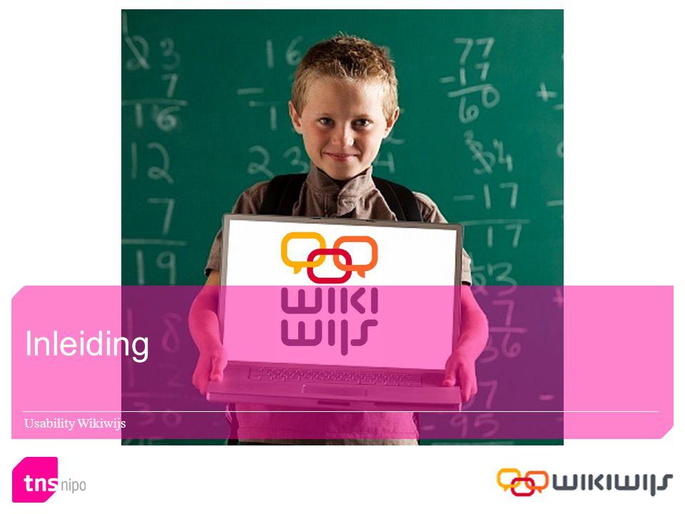 Inleiding Usability Wikiwijs
