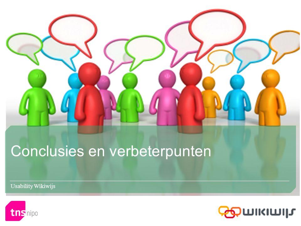 Conclusies en verbeterpunten Usability Wikiwijs