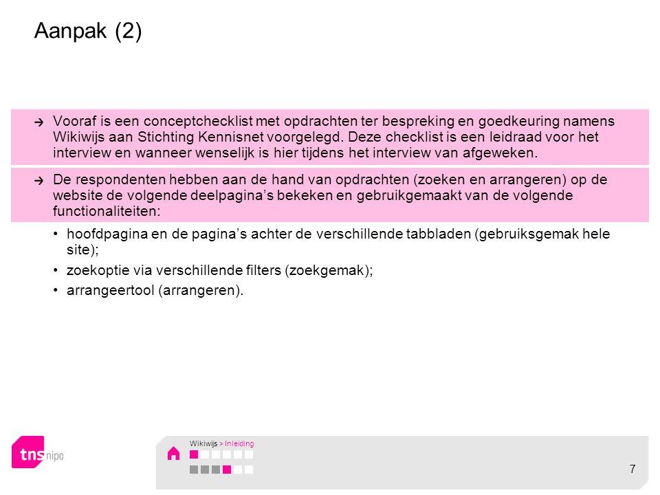 Aanpak (2) Vooraf is een conceptchecklist met opdrachten ter bespreking en goedkeuring namens Wikiwijs aan Stichting Kennisnet voorgelegd.