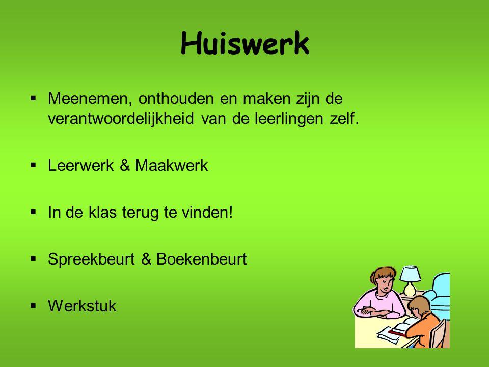 Zelfstandig werk (ZW)  Extra aandacht voor spelling, taal, rekenen en begrijpend lezen.
