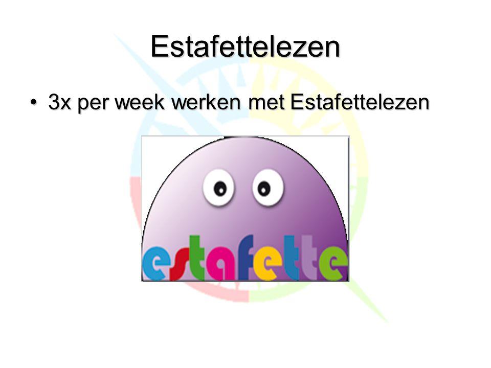 Estafettelezen •3x per week werken met Estafettelezen