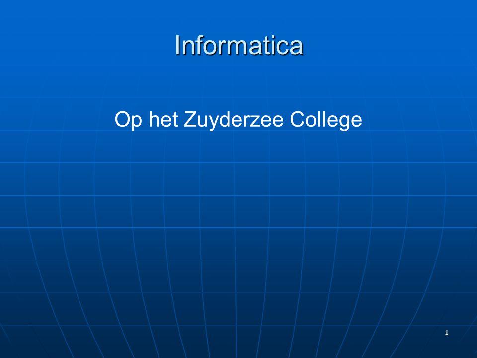 1 Op het Zuyderzee College Informatica