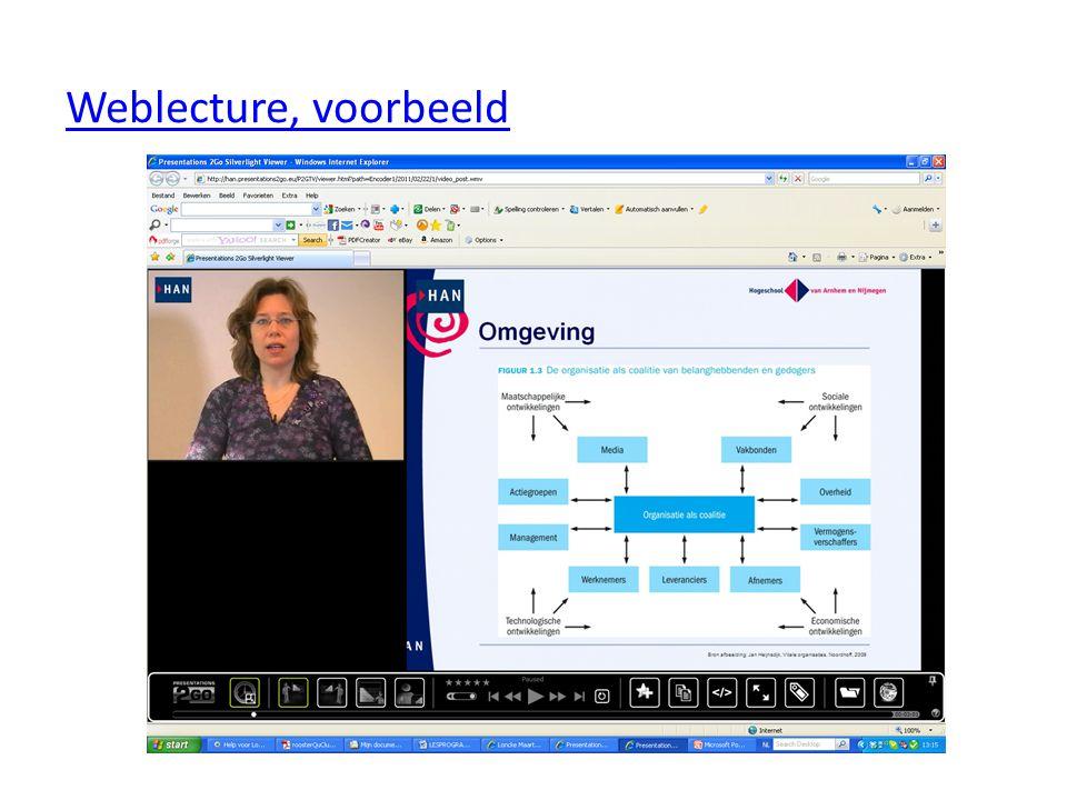 Weblecture, voorbeeld