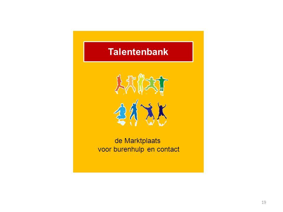 19 Talentenbank de Marktplaats voor burenhulp en contact