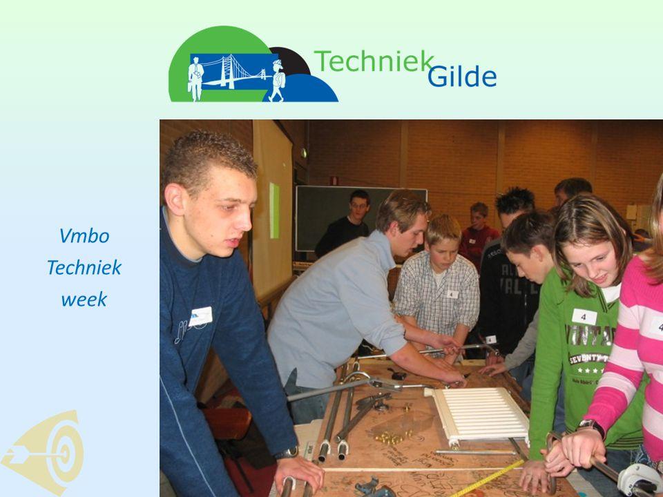 Gerealiseerd •Vmbo techniekweek 2006 – 2008: 3.000 leerlingen motto: Techniek, daar maak je het mee.
