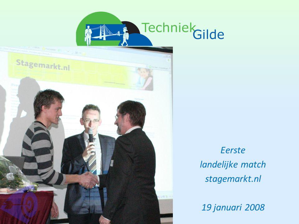 Eerste landelijke match stagemarkt.nl 19 januari 2008