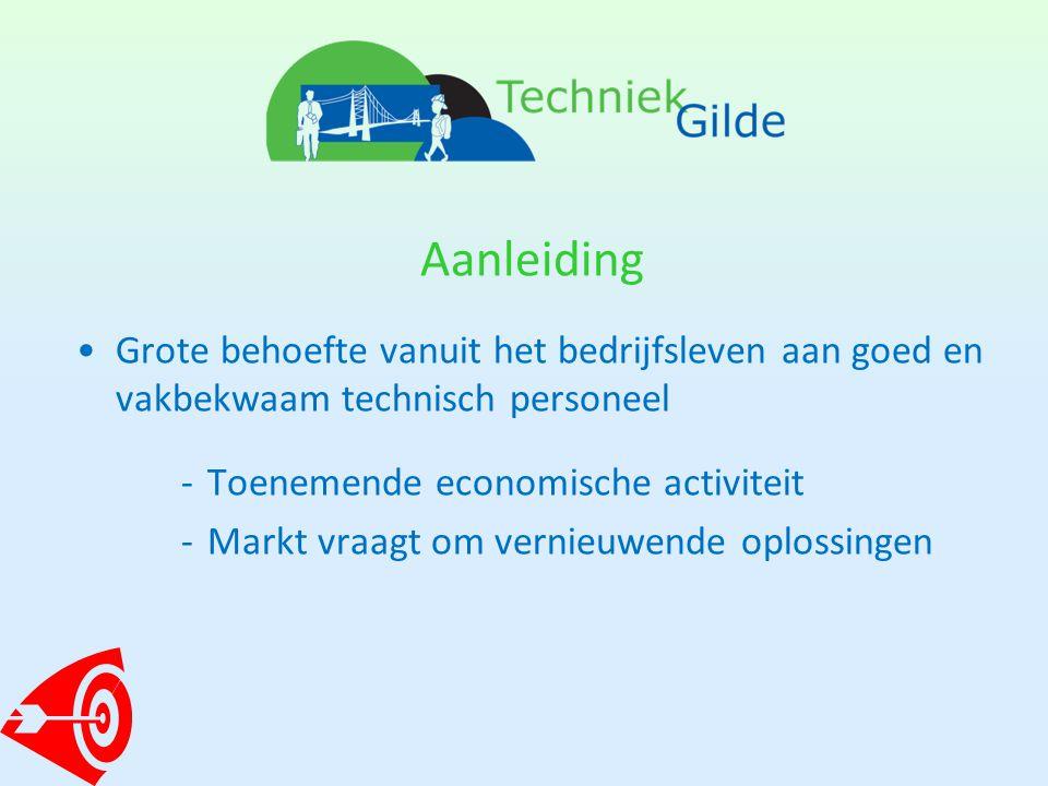 Aanleiding •Grote behoefte vanuit het bedrijfsleven aan goed en vakbekwaam technisch personeel -Toenemende economische activiteit -Markt vraagt om vernieuwende oplossingen