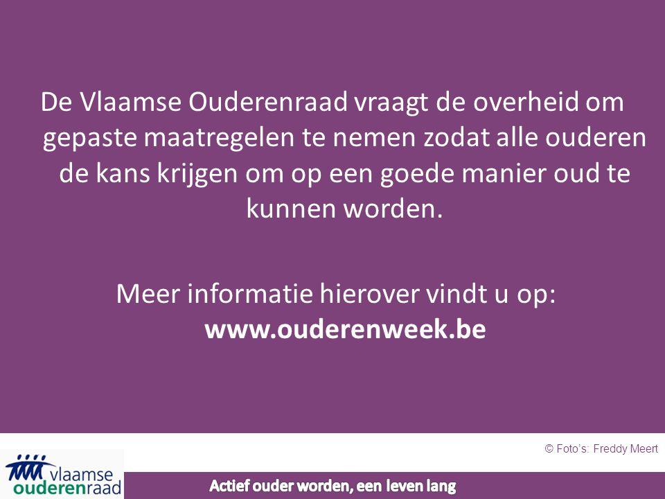 De Vlaamse Ouderenraad vraagt de overheid om gepaste maatregelen te nemen zodat alle ouderen de kans krijgen om op een goede manier oud te kunnen worden.