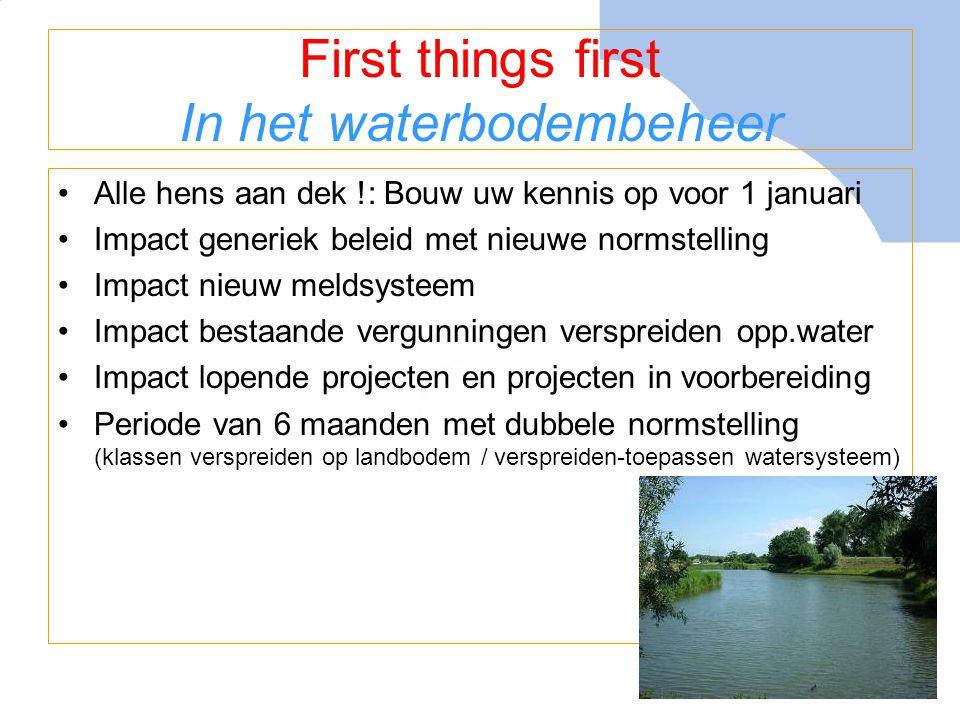 Van start met implementatie •Startpakket Bodem+ - Handreiking Besluit Bodemkwaliteit - Website www.bodemplus.nlwww.bodemplus.nl (ook voor uw erkenningaanvraag en inzicht in erkende intermediairs) - Helpdesk Bodem+ ( 070-3735123 / www.bodemplus.nl )www.bodemplus.nl - Presentaties / trainingen door Bodem+ - Instrumenten voor bodembeheer:  Risicotoolbox: www.risicotoolboxbodem.nl www.risicotoolboxbodem.nl  Meldsysteem: www.meldpuntbodemkwaliteit.senternovem.nl www.meldpuntbodemkwaliteit.senternovem.nl  Lokale bodemkwaliteitskaarten: www.biells.nl www.biells.nl - Monitoring van de werking in de praktijk