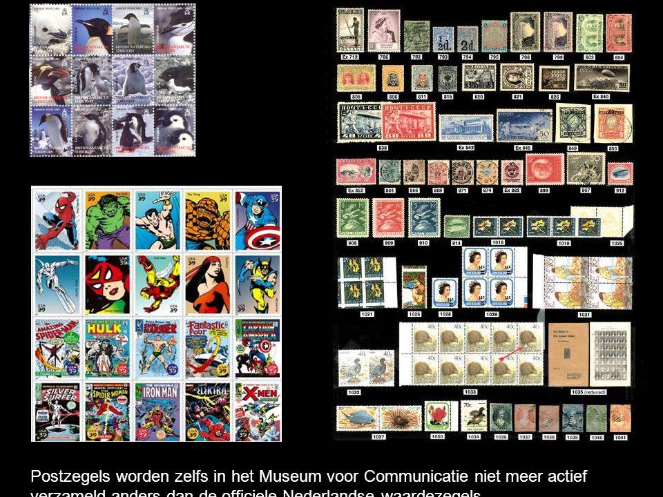 Postzegels worden zelfs in het Museum voor Communicatie niet meer actief verzameld anders dan de officiele Nederlandse waardezegels.