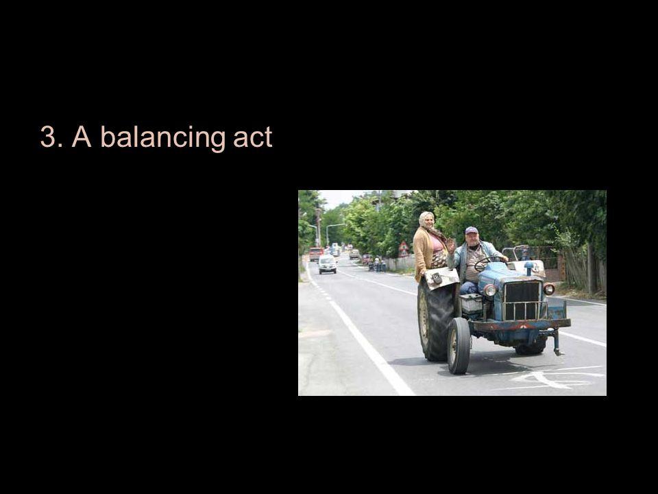 3. A balancing act