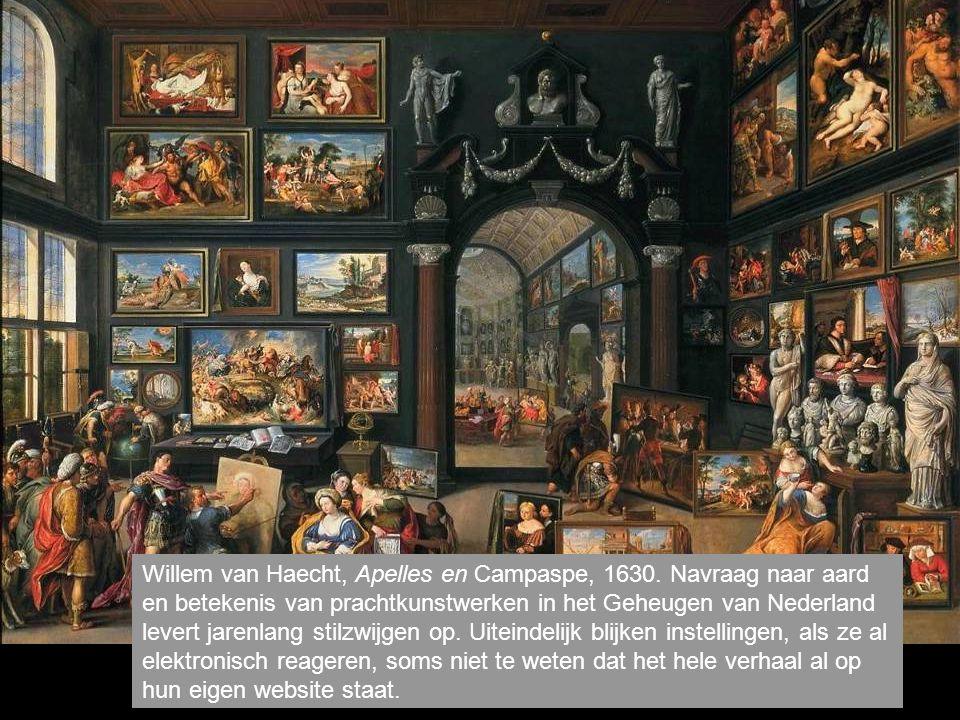 Willem van Haecht, Apelles en Campaspe, 1630.