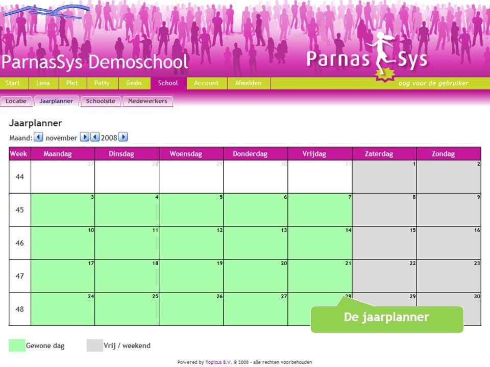 De jaarplanner