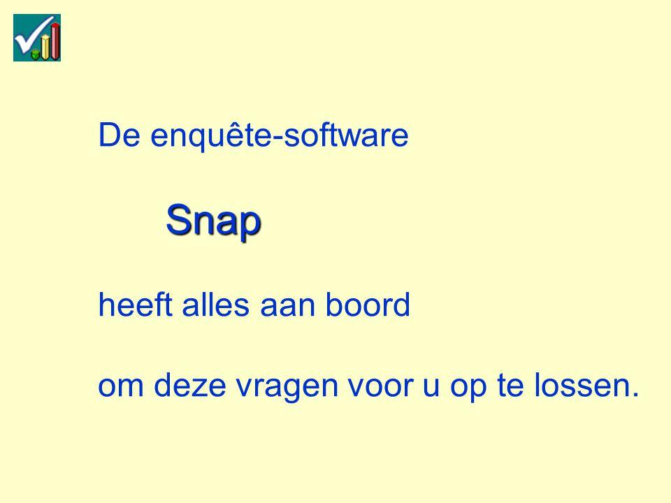 Snap De enquête-software Snap heeft alles aan boord om deze vragen voor u op te lossen.