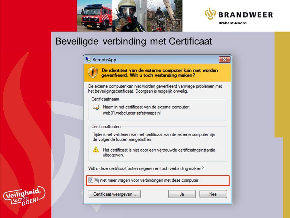 Beveiligde verbinding met Certificaat