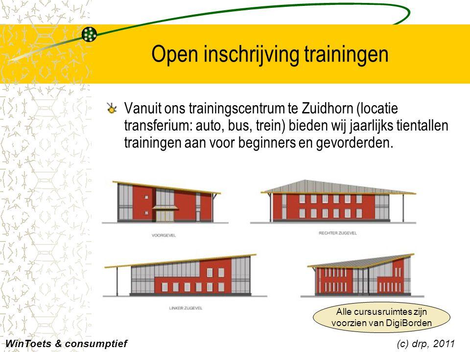 Contactgegevens DRP Meer informatie via website van DRP –Zie http://www.drp.nl/wintoets/ –en http://www.ictwebring.nl DRP Training & Publishing –Postbus 50   98001 AB   Zuidhorn –Tel.