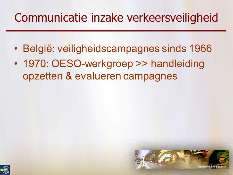 Communicatie en verkeersveiligheid De sensibilisatiecampagnes van het BIVV