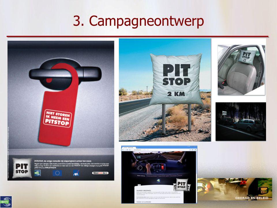 3. Campagneontwerp •Mediaplan in functie van de doelgroep, rekening houdend met het budget •Above-the-line versus below-the-line •Dure media (televisi