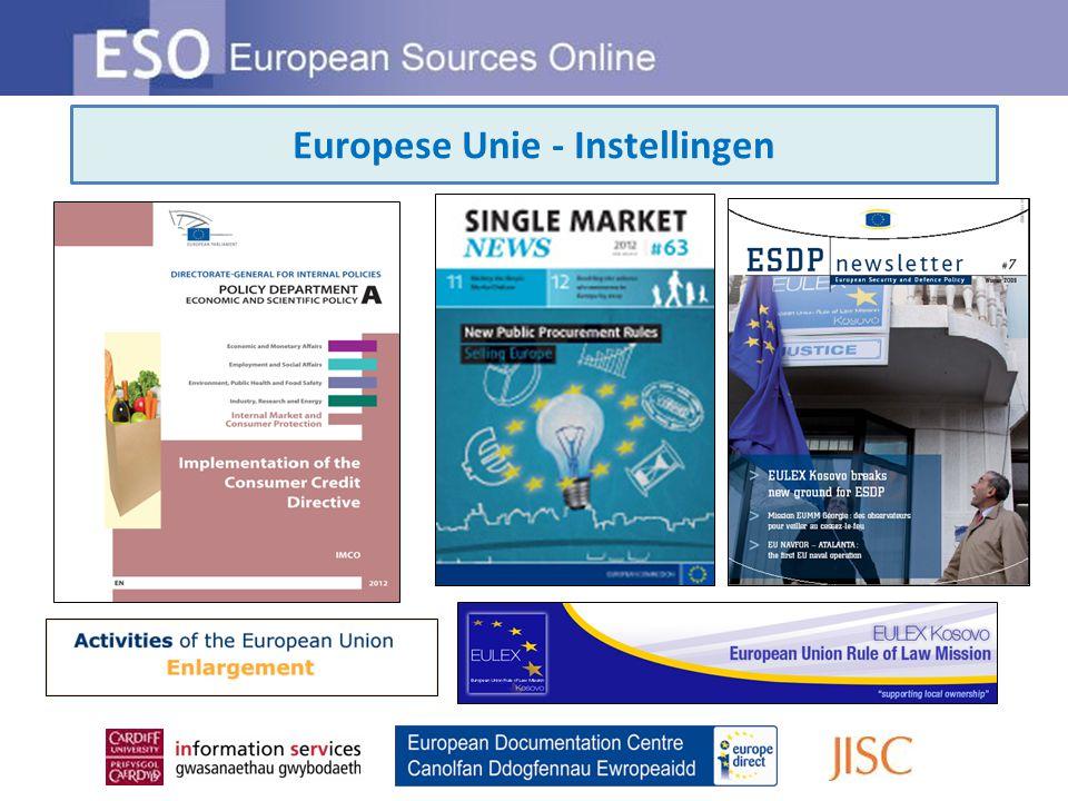 Europese Unie - Instellingen