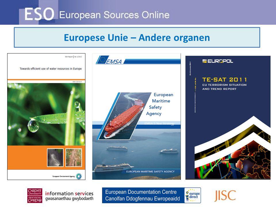 Europese Unie – Andere organen