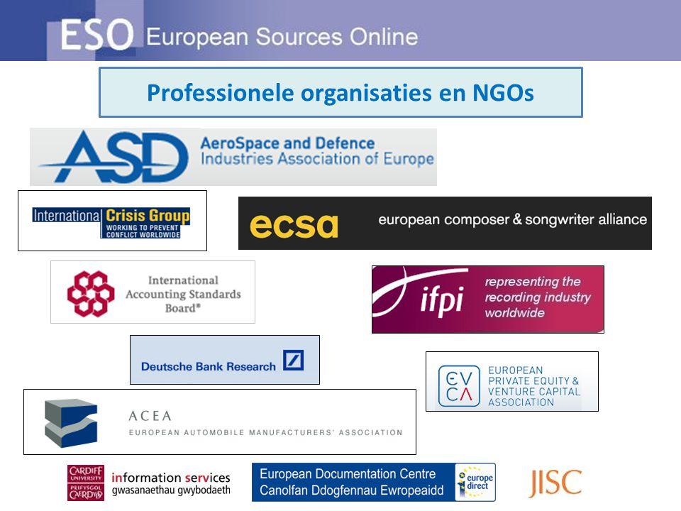 Professionele organisaties en NGOs