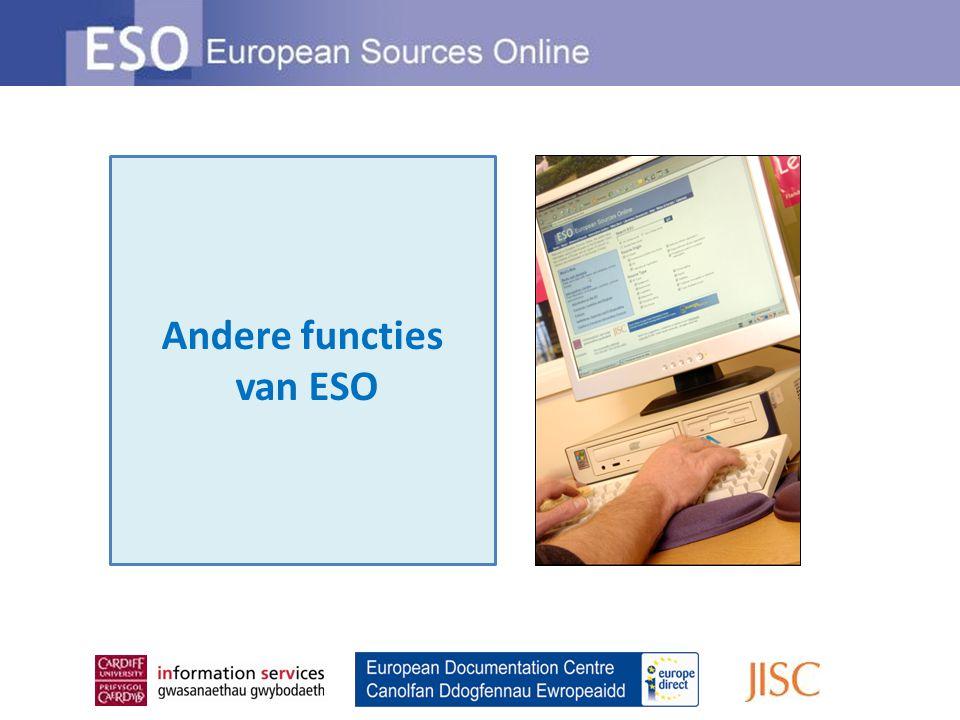 Andere functies van ESO
