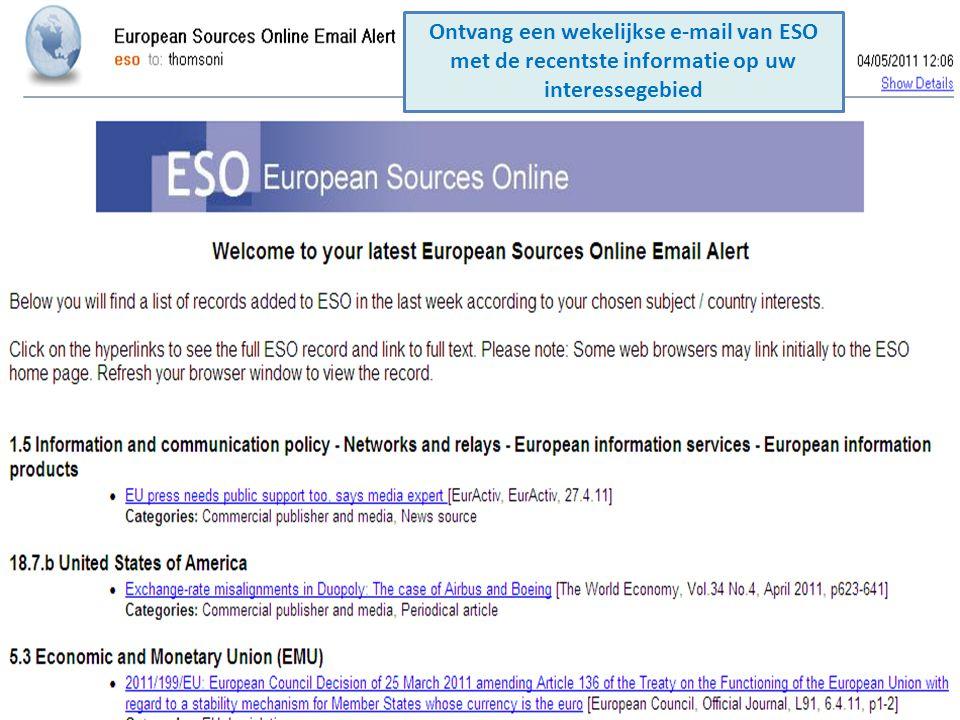 Ontvang een wekelijkse e-mail van ESO met de recentste informatie op uw interessegebied